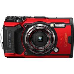 Olympus Tough TG-6 Digitalkamera 12 Megapixel Opt. Zoom: 4 x Rot GPS, Stoßfest, Wasserdicht bis 15