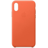 Apple iPhone XS Leder Case abendsonne