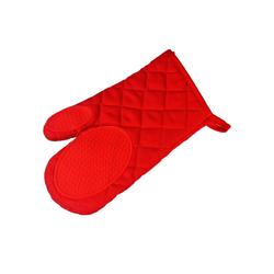 One Home Topfhandschuhe Backhandschuh Basic, (1-tlg), hitzebeständig bis 250°C mit Silikon rot