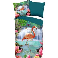 Wendebettwäsche Flamingo, PURE luxury collection, mit Flamingo