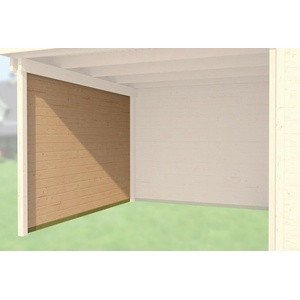 Weka Zubehör für Designhaus 172/126 Seitenwand Tiefe 235 cm naturbelassen 21 mm