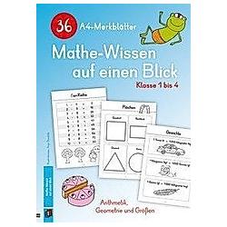 36 A4-Merkblätter Mathe-Wissen auf einen Blick - Klasse 1 bis 4 - Buch