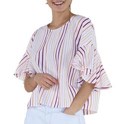 Drykorn Shirtbluse DRYKORN Blusen-Shirt gestreifte Damen Sommer-Bluse Sommer-Bluse Weiß/Bunt 34