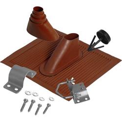 A.S. SAT Dachziegel-Dichtung Passend für Mast-Ø (max.): 60mm Ziegel-Rot