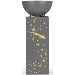 EASYmaxx LED Dekolicht Ginko, In- und Outdoor, EASYmaxx LED-Dekosäule Rost-Optik, 59 cm