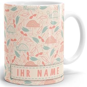 Drucksaal Namenstasse-Tasse-Becher-Kaffeetasse-mit Name-mit Namen individuell und persönlich Motiv Käferwanderung Tasse mit Panoramadruck
