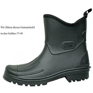 Dry Walk Hochwertiger Herren Gummistiefel Halbstiefel schwarz Peter Größe 37-48