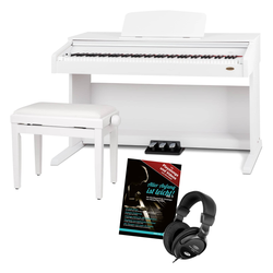 Classic Cantabile DP-210 WM E-Piano SET weiß matt