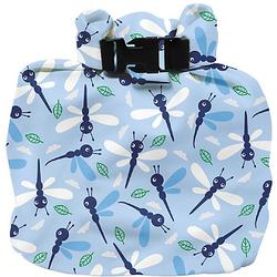 Windeltasche, wasserdicht, Libelle im Zwielicht blau
