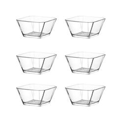 LAV Dessertschale Glasschalen Dessertschale Vorspeise Schalen, Glas, (Set, 6-tlg) beige