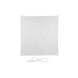 relaxdays Sonnensegel Sonnensegel Quadrat in Weiß 500 cm x 0.5 cm x 500 cm