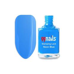 Stamping Lack - Neon Blue 12ml - Stempel Nagellack Nail Art Stamping Stamping Polish Neon Blau