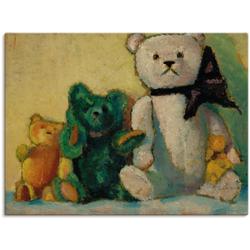 Artland Wandbild Die Bärenfamilie. 1926, Spielzeuge (1 Stück) 120 cm x 90 cm
