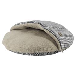 Nobby Komfort Kissen rund Xaver mit Kuscheldecke grau
