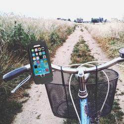 Wasserabweisende Fahrrad Handyhalterung / Fahrradhalter - Apple iPhone 6, 6s > Schwarz