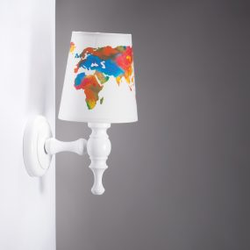 Wandleuchte Weltkarte