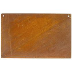Rost-Schild zum Hängen aus Metall, 33 x 21 cm