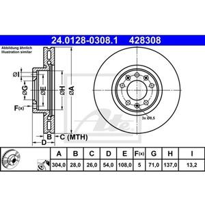 Bremsscheibe ATE 24.0128-0308.1