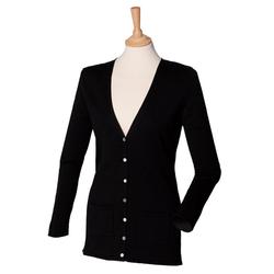 Damen V-Neck Cardigan | Henbury black 3XL