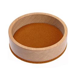 HEY-SIGN Organizer Ablageschale Bowl Ø 13,5 cm aus Filz/Holz; Taschenleerer, Schlüsselablage, Schmuckablage; Made in Germany braun
