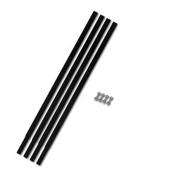 vidaXL Verlängerungsrohr Verlängerungsrohr für Bohrer 4 x 1 m Rohranschluss schwarz