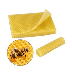 Gotui Bienenwachskerze, Bienenwachsfundamente, Bienenkamm, Bienenwachsblätter, Honigrahmen, 20 Stück