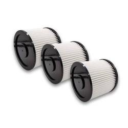 vhbw 3x Rund-Filter passend für Mehrzwecksauger Aldi Workzone Nass- und Trockensauger