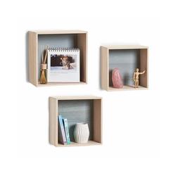 Zeller Present Regalwürfel Cubes, Set 3-tlg.