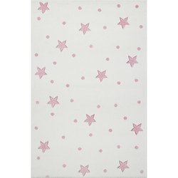 Kinderteppich, HEAVEN creme/rosa, 100 x 150 cm