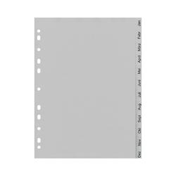 Ordnerregister A4, Monatsregister Jan-Dez, 12 tlg., volle Höhe