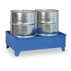 Auffangwanne mit beinen, für 2 fässer, 240 l, blau