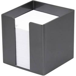 Zettelbox 9,5x9,5x9,5cm 700 Blatt weißes Papier silber