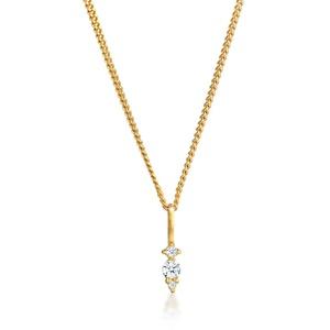 Halskette Diamant (0.05 Ct.) Brilliant Klassik 585 Gelbgold DIAMORE Gold - 001