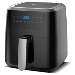 TurboTronic by Z-Line Fritteuse Heissluftfritteuse XXL, 5 Liter, 1400 W, Airfryer, schwarz, digital, Fritteuse ohne Fett