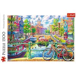 Trefl - Puzzle - Amsterdam Kanal 1500 Teile