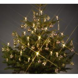 TRANGO LED-Christbaumkerzen LED Weihnachtskerzen, 24-flammig, TG340146 warmweiß leuchtend 24 LED Weihnachtskerzen mit Stecksystem Innenbereich Weihnachtsbeleuchtung, Lichterkette weiß