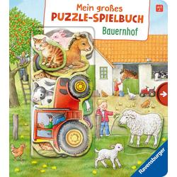 Mein großes Puzzle-Spielbuch Bauernhof: Buch von