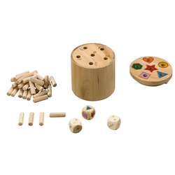 JAKO-O Super Six Holzwürfel, bunt - bunt