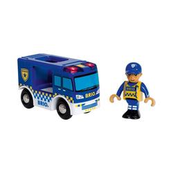 BRIO® Spielzeug-Eisenbahn Polizeiwagen mit Licht und Sound