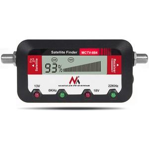 Maclean MCTV-884 Satfinder mit Tonsignalisierung Messgerät Satelliten-Finder Tonsignal LCD Display FullHD HDTV 4K 25cm F-Verbindungskabel
