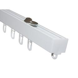Schienensystem Vorhangschienen Set 1-Lauf LUNA weiß weiß 200 cm, GARDINIA