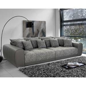 Bigsofa Megasofa Xxl Sofa Moldau Couch In Grau Hellgrau Mit Federkern Und Kissen