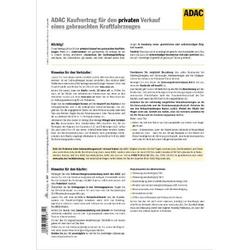 ADAC-Kaufvertrag für priv. Verkauf gebrauchtes Kfz selbstdurchschreibend