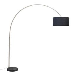 Bogenlampe Stahl schwarzer Lampenschirm 50 cm - XXL
