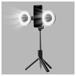 Baseus Baseus Foto Lampe Ring Licht Ringblitz Flash LED für Selfie Stick Stativ Foto Live Stream schwarz Selfiestick