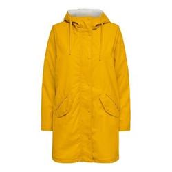 ONLY Langer Regenjacke Damen Gelb Female L