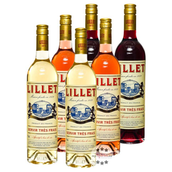 Lillet 6er Set - Blanc, Rose & Rouge