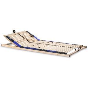 snoozo Lattenrost Superflex zur Selbstmontage/Lattenrahmen - 42 Federleisten und 5-fache Härteverstellung - geeignet für alle Matratzen 120 x 200 cm, Kopfteil verstellbar