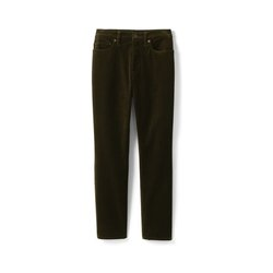 Slim Fit Samthose - M - Grün