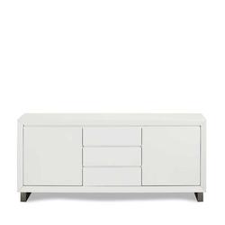 Wohnzimmer Kommode in Weiß und Grau 160 cm breit